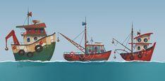 Yana Blyzniuk on Behance Disney Cars, Disney Ships, Boat Cartoon, Cartoon Ships, Vintage Jeep, Lightning Mcqueen, Planner Stickers, Jeep Wrangler, Graphic Design Illustration