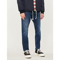 Ck Jeans 056 Slim-fit Stretch-denim Jeans In Laheema Blue Ck Jeans, Denim Jeans, Skinny Jeans, Calvin Klein Jeans, Stretch Denim, Looks Great, Slim, Fitness, How To Wear