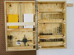 Drill bit storage cabinet. - by oscorner @ LumberJocks.com ~ woodworking community