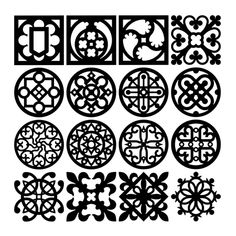 CNC and Jigsaw router Coasters 16pcs set vector file. Download now.
