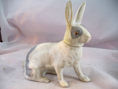 PAPER MACHE RABBIT CANDY CONTAINER