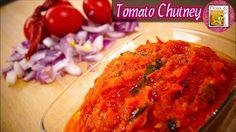Tomato Chutney - in Tamil Tomato Chutney, Chutney Recipes, Tandoori Chicken, Spicy, Ethnic Recipes, Easy, Food, Essen, Yemek