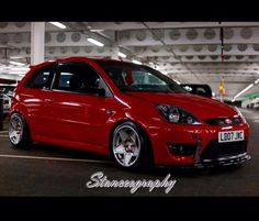 We love all Ford models! Red Ford Fiesta mk6
