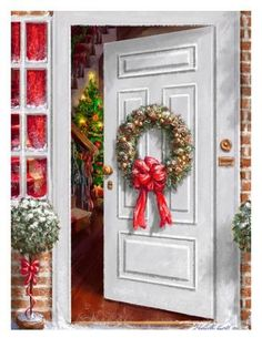 Giclee Print: Home Holiday Entrance by Advocate Art : 40x30in