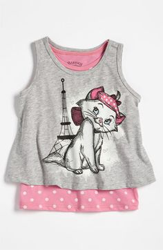Marie from The Aristocats tank top. So cute! I would so wear this, she's one of my favorite Disney characters! <3