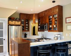I'm so doing this!  Small kitchen idea- Chuck Mills Residential Design & Development Inc.