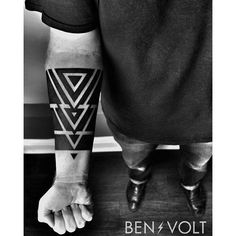 A simple and bold triangular/band piece for James. Personal numerology. Thank you so much! First tattoo! Tattoo Artist: Ben Volt