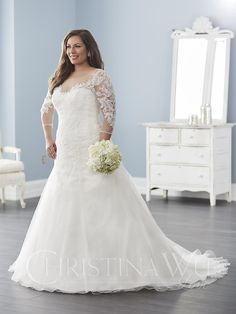 Christina Wu Love | Available at Party Dress Express | 657 Quarry Street | Fall River, MA | 508-677-1575 | #Wedding #PlusSizeBride #ChristinaWuLove