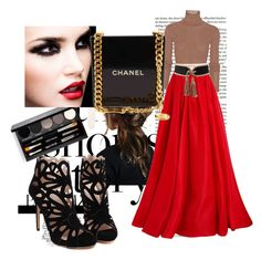 Designer Clothes, Shoes & Bags for Women Red Skirt Outfits, Red Skirts, Reem Acra, Balmain, Chanel, Shoe Bag, Polyvore, Shopping, Collection