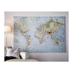 Quadro cartina del mondo ottime condizioni,praticamente nuovo! Misure 200 x 140 cm Peso 3,70 Kg  Montaggio facile in 2 minuti