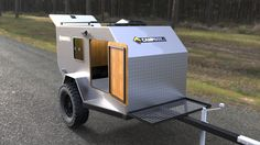 Campbox Off-Road Expedition Trailer - Chile - CampBox Expedition Trailer Teardrop Camper Plans, Teardrop Camping, Teardrop Trailer, Adventure Trailers, Best Trailers, Tiny Trailers, Expedition Trailer, Overland Trailer, Small Trailer