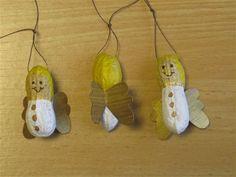 (Weihnachten) -Engel aus Erdnüsse