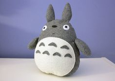 "A felt Totoro pattern and tutorial. Free. Really cute and easy, even if you haven't sew a lot before. Totally ""doable"" by hand."