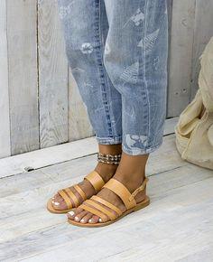 AMORGOS Greek leather sandals flat sandals leather sandals