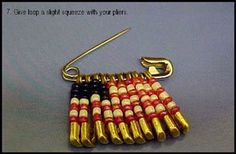 Flag Lapel Pin (Safety Pin Jewelry)
