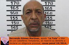 Servando Gómez Martínez ''La Tuta'' se reserva su derecho a declarar ante un juez federal y solicitó la duplicidad del término constitucional.