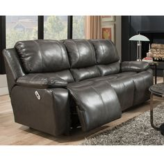 Reclining Leather Sofa From Franklin Recline And Backrest