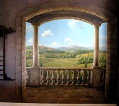 Gladkov Studios… mural tuscan scene