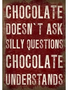 1linerz Canvasdoek Op Frame 50 x 70cm - Tekst Chocolate #quote #myhomeshopping