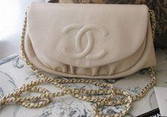 Chanel Half Moon WOC, Caviar leather, light beige