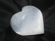 Selenite Heart by Valugems on Etsy