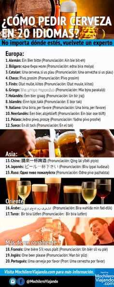 How to order a beer in 20 languages Travel Blog, Travel Tips, Places To Travel, Travel Destinations, Travel Around The World, Around The Worlds, Eurotrip, Free Personals, Travel Backpack