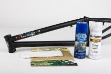 """This article should really be called """"How-To Paint A Frame And Not Make It Look Like Crap."""" Anyone can pick up a cheap can of spray paint and go to town on their bike, but getting a frame to look like it just came from the powder coater requires a bit more attention to detail and a few extra steps…"""
