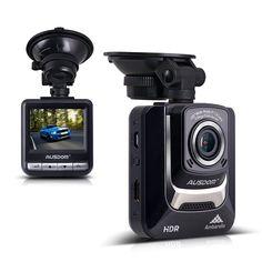 """Ausdom AD282 Dash Cam, 2.4"""" LCD Car DVR Video Recorder with 1296 P Ambarella A7LA50 Camcorder Vehicle Camera"""