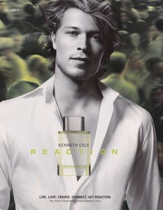 Kenneth Cole Reaction for Men Perfume Adverts, Fragrances, Men, Fragrance, Event Posters, Guys