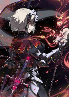 Joan Alter - Joan of Arc (Fate/Apocrypha) - Image - Zerochan Anime Image Board Manga Anime, Art Manga, Comic Manga, Anime Art, Fantasy Characters, Anime Characters, Fate Jeanne Alter, Character Art, Character Design