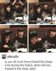 BAP; This makes me sad :'( but Yongguk pinching Zelo's cheek is cute :)