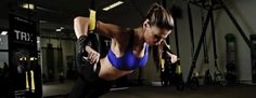 TRX suspension training. Workout. Fitness. Exercise.