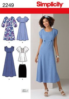 Simplicity Ladies Sewing Pattern 2249 Dresses, Tunic Top & Skirt | Sewing | Patterns | Minerva Crafts