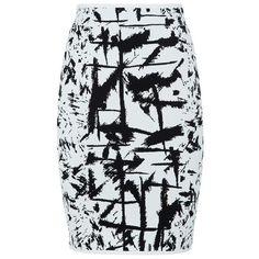 BCBGMAXAZRIA Graphic Knit Skirt (€275) ❤ liked on Polyvore featuring skirts, mini skirts, bottoms, saias, faldas, bodycon skirt, peplum mini skirt, body con skirt, knit skirt and knit bodycon skirt