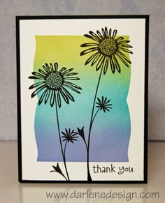 Masked Silhouette Flower by darlenedesign - Cards and Paper Crafts at Splitcoaststampers