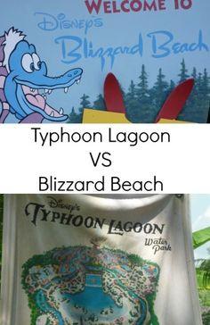 Typhoon Lagoon VS Blizzard Beach Water Parks Disney World Florida - The Life Of Spicers #disney