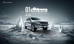 Benz China ice and Snow Festival on Behance Ice Car, Toyota, Bear Mountain, Car Brochure, Car Posters, Print Advertising, Web Design Inspiration, Portfolio Design, Layout Design