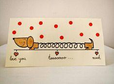 Imagem de love, diy, and dog – - Diy Birthday Cards Valentines Bricolage, Valentines Diy, Valentine Cards, Funny Valentine, Love Cards, Diy Cards, Diy Birthday, Birthday Cards, Tarjetas Diy