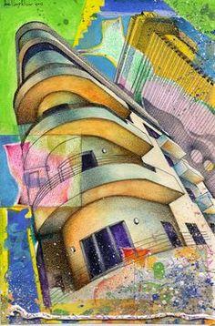 "Saatchi Online Artist daniel levy; Drawing, ""Un Gato En Tel Aviv"" #art"