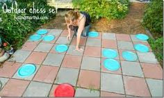 outdoor checkers/chess