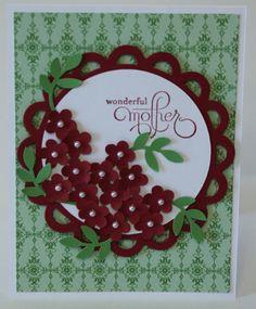 Wonderful Mother Flower Bouquet Card Stampin by BeingACreativeMom, $2.50