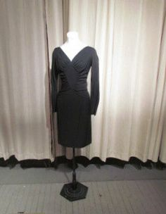 Perfect Little BLACK RUCHED Dress by BeauMondeVintage on Etsy, $158.00