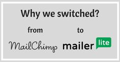 Why we switched from Mailchimp to Mailerlite for EMail Marketing? #digitalmarketing