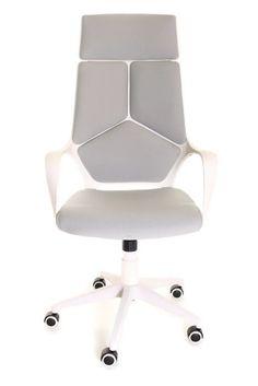 Modern Ergonomic Office Chair Grey White by TimeOffice  #TimeOffice #OperatorTaskChair