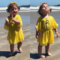 2019 Fashion Kids Baby Girls Dress Beach Sundress Flower Fringe Dresses Bikini Cover 6M-5T – zoomcart Dress Beach, Beach Dresses, Girls Dresses, Girl Sleeves, Fringe Dress, Batwing Sleeve, Floral Style, Girl Model, Fashion Kids