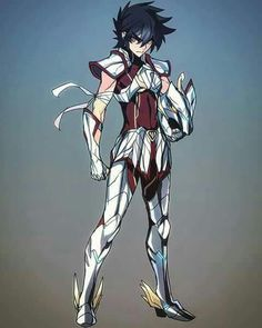 >:/ :/ angry armor ban bandage breastplate brown eyes brown hair clenched hand closed mouth full body gauntlets helmet highres male focus pegasus seiya saint seiya short hair shoulder armor simple background spaulders standing thick eyebrows - Image V Manga Anime, Art Anime, Anime Guys, Anime Fantasy, Chibi, Knights Of The Zodiac, Accel World, Fan Art, Comic Games