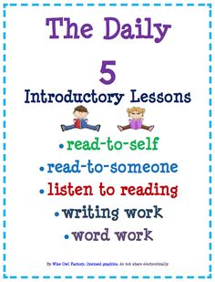 """FREE LANGUAGE ARTS LESSON - """"Read to Self (Silent Reading) Lesson, PPt, and all Daily 5 Separately"""" - Go to The Best of Teacher Entrepreneurs for this and hundreds of free lessons."""