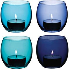 blue candle holders - Google Search