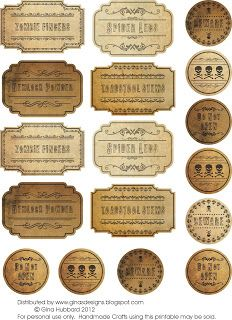 Freebie Friday Vintage Misc Labels & Tags (dowloaded file)