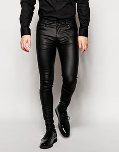ASOS+Extreme+Super+Skinny+Jeans+In+Leather+Look